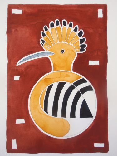 Hoopoe as circular bird