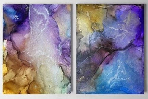 Diptych. Barbados. Abstraction.