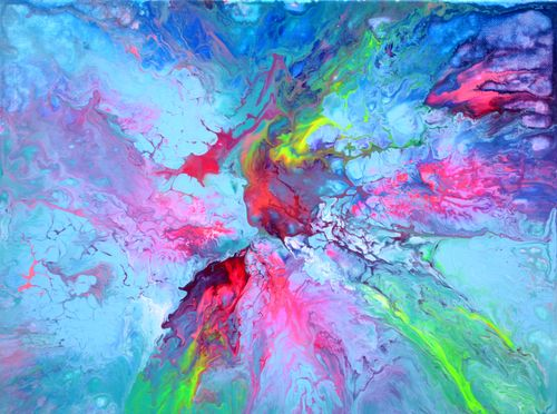 Small Abstract 1, Fluid Abstract Painting