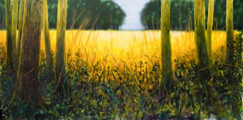 """The golden field"" - EXTRA LARGE SIZE - 78X15"