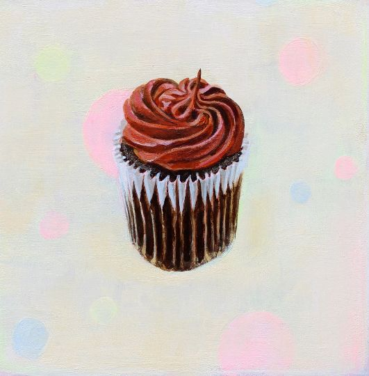 Chocolate Cupcake Original Painting