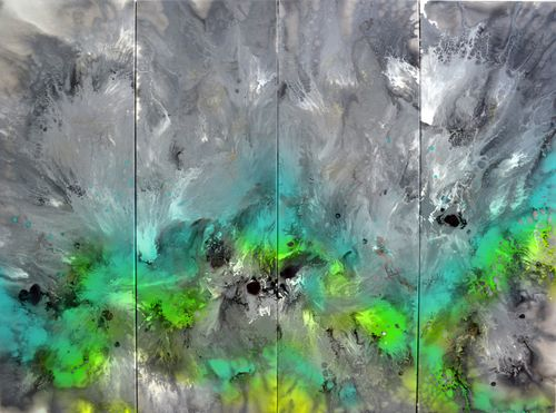 Astral Love 4 - 160x120x2cm Huge Abstract Pai