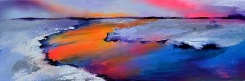 New Horizon 92, Large Original Painting 120x4