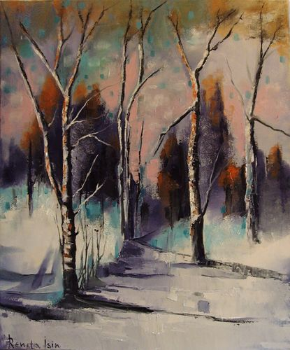 """ Winter "" - Original Oil Painting on Canvas"