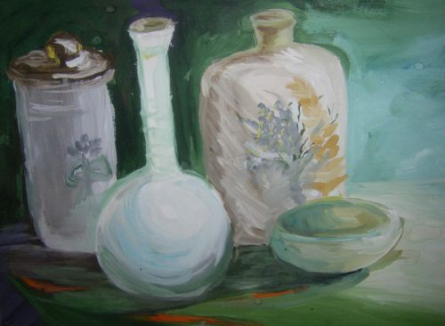 STILL LIFE WITH POTTERY