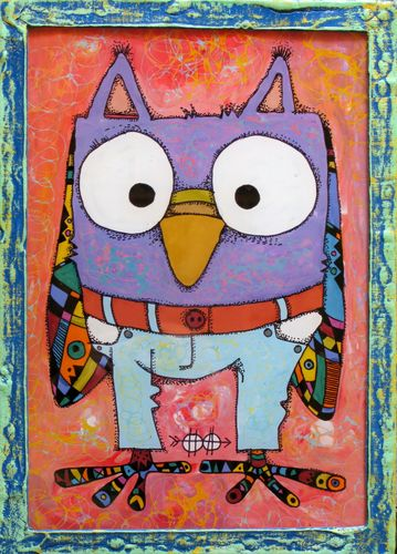 Owl in jeans #2