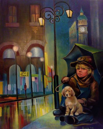 The Lights of The City #2 Original Oil Painti