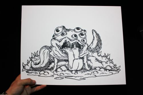 Crippy monster (print artwork)