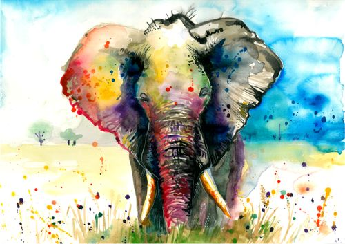 MAJESTIC RAINBOW ELEPHANT - Art Photo Print