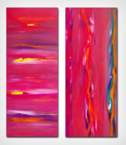 Sunset anomaly, diptych, n° 2 paintings