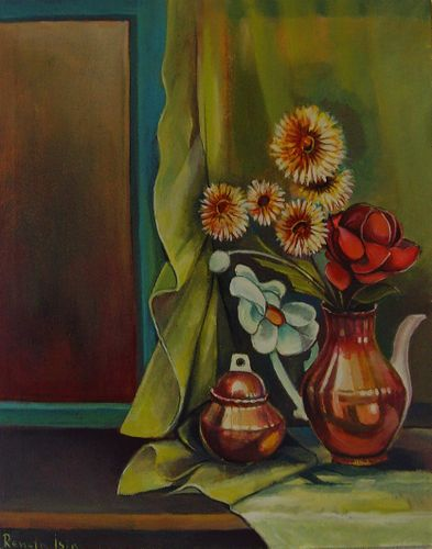Still Life - Original Oil Painting on Canvas