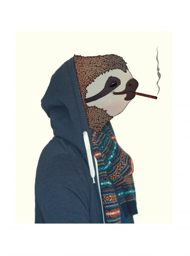 Sloth with Hoodie
