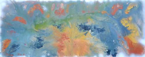 Neutral 2 - 150x60x2 cm Big Painting Large Ab