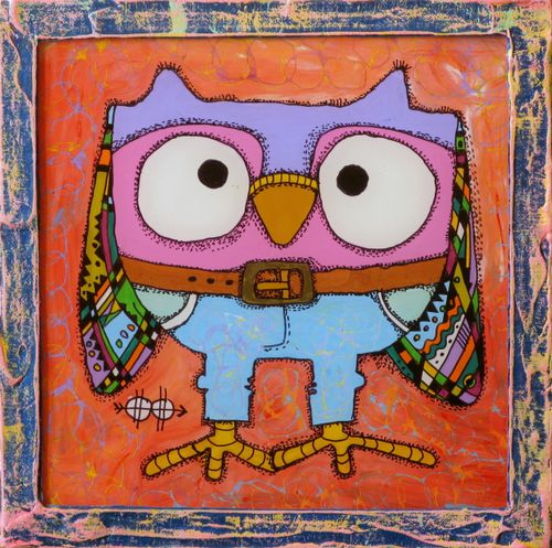 Owl in jeans