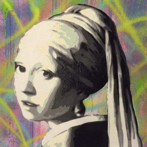 The black and white girl with a pearl earring