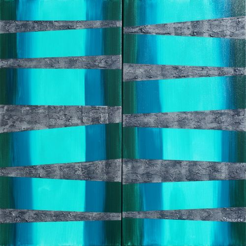 mint Abstract paintings A254 long steel