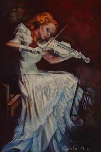 """ Violinist "" Original Oil Painting on Canvas"
