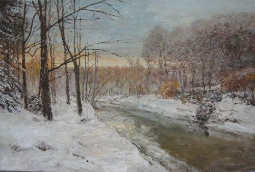 """Winter motif and river"""