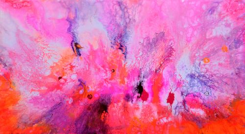 Celebrating Beauty - 90x50x2 cm - Large Abstr