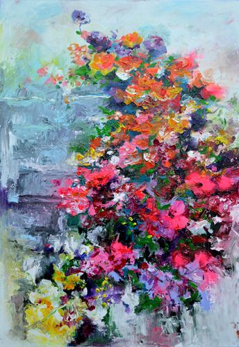I've Dreamed - Large Abstract Floral Painting
