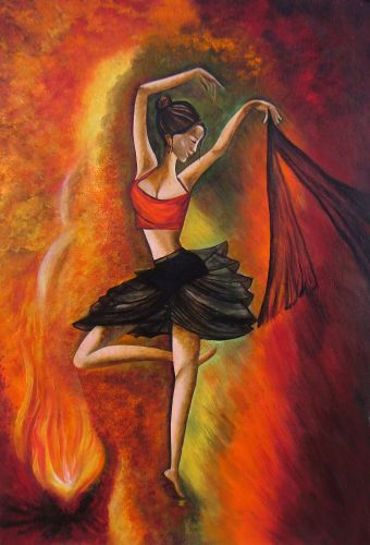 Sizzling Dance - Original Acrylic Painting