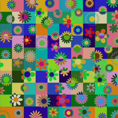 Flowers and Cubes - two
