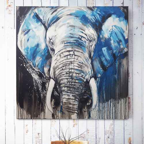 Elephant #5 - Close up - Large Painting