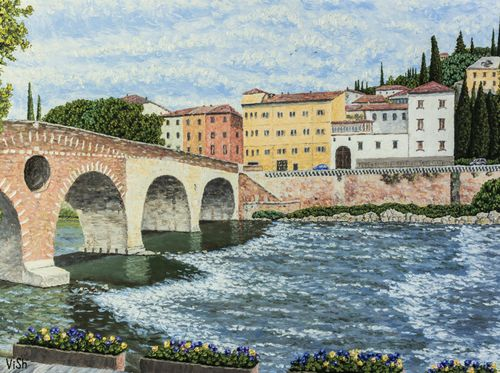 """Olld town and Ponte Pietra"""