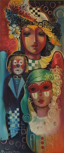 """ Carnaval ""  Original Oil Painting on Canvas"