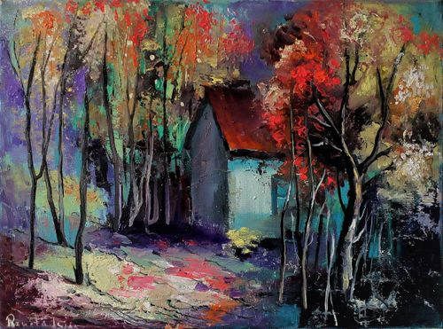 Trending art: Landscape - Original Oil Painting on Canvas