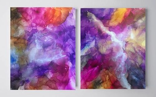 """""""Emotional dream"""". Diptych. Abstraction."""